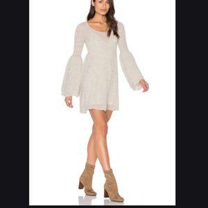 New Free People Juliet bell sweater mini dress xs